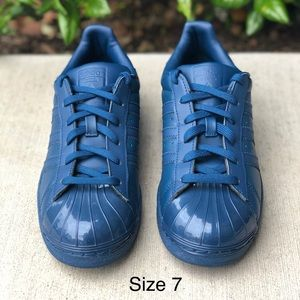 Adidas Superstar Blue Glossy Sneakers